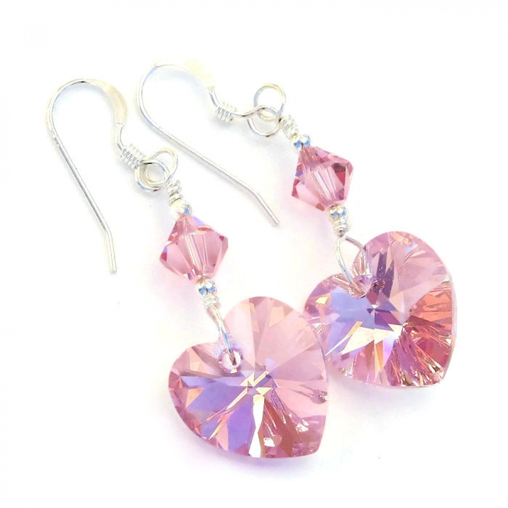 Quot Perfectly Pink Pink Hearts Valentines Earrings