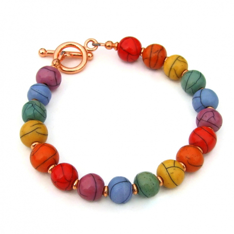 acrylic bead bracelet colorful gift for women