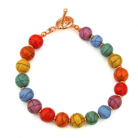 acrylic bead jewelry colorful gift for women