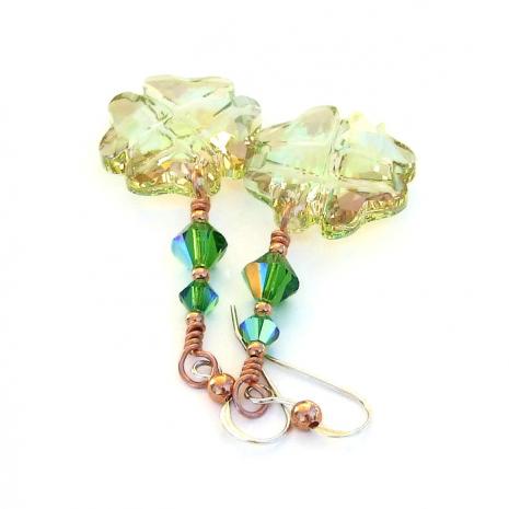 good luck swarovski crystal earrings