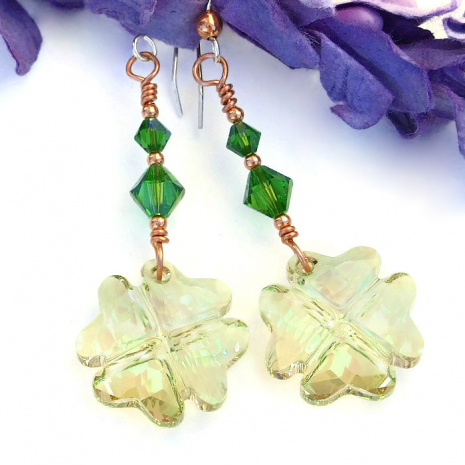 lucky four leaf clover earrings for women