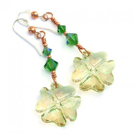 handmade st patricks day earrings for women