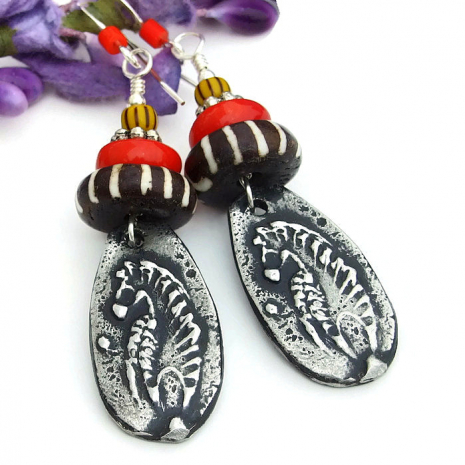 African animal jewelry for women