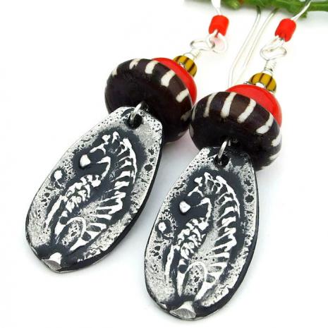 handmade zebra jewelry tribal gift for women