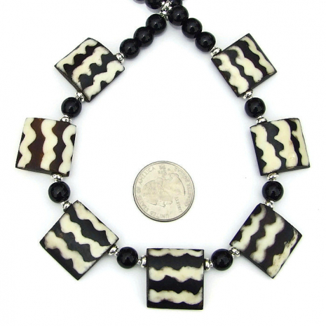 african batik bead necklace gift for her