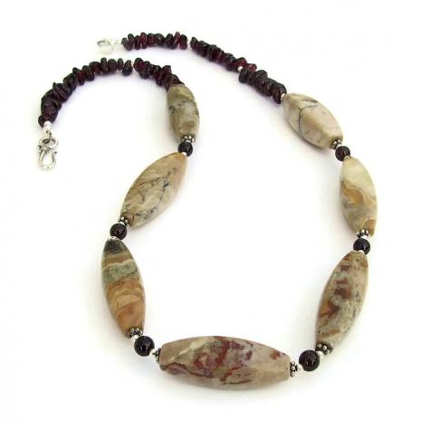 earthy handmade gemstone necklace