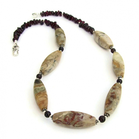 earthy handmade gemstone necklace