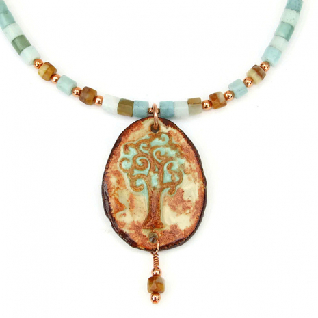 Handmade Tree of Life necklace for her.