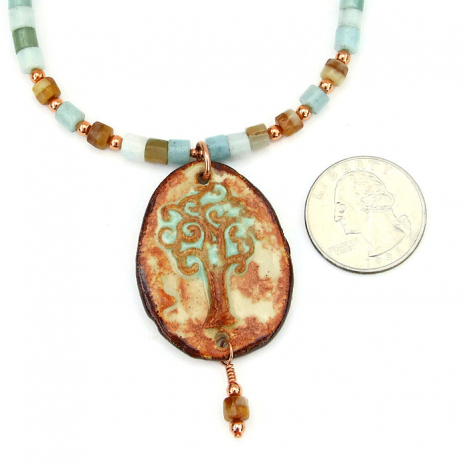 One of a kind Tree of Life pendant necklace.