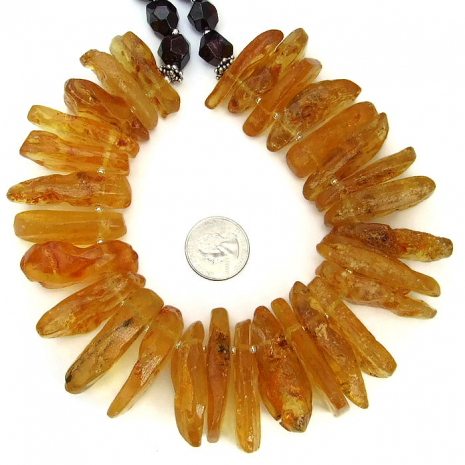 One of a kind amber necklace.
