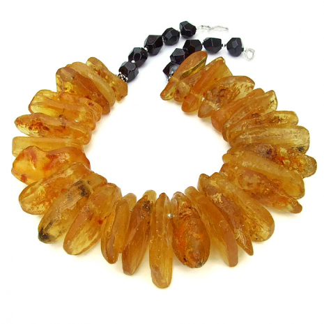 Amber statement necklace.