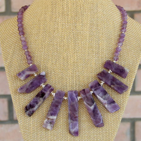 amethyst necklace gift for women