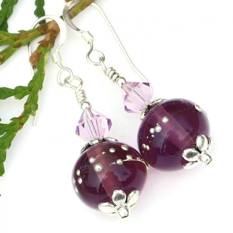 perfect jewelry gift for the woman who loves purple