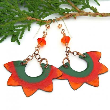 santa fe suns boho dangle earrings