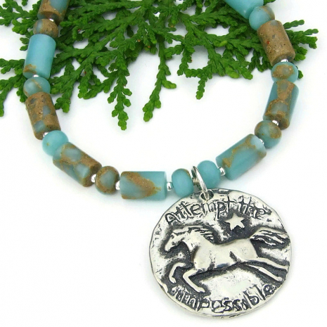 attempt the impossible horse star jewelry aqua terra jasper