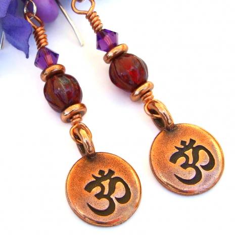 aum chakra jewelry root crown chakras yoga