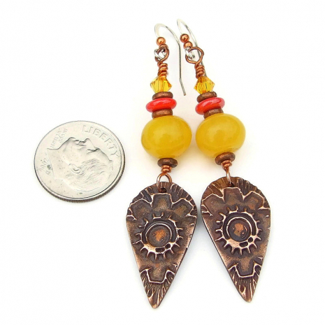 autumn fall flower jewelry gift for her