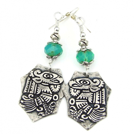 aztec mayan bird quetzalcoatl jewelry gift for women