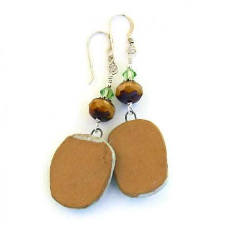 back side of turtle charm earrings