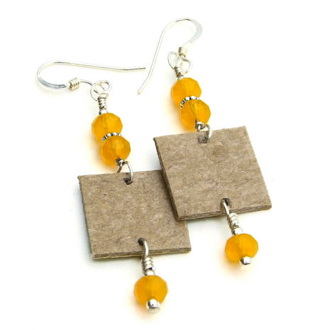 backside of Southwest church earrings