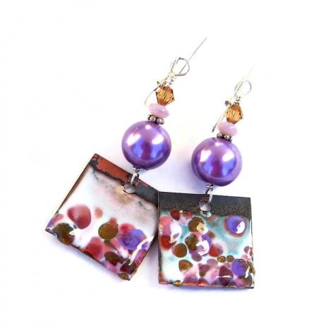 backside of enamel earrings charms
