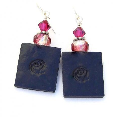 backside of frida kahlo earrings