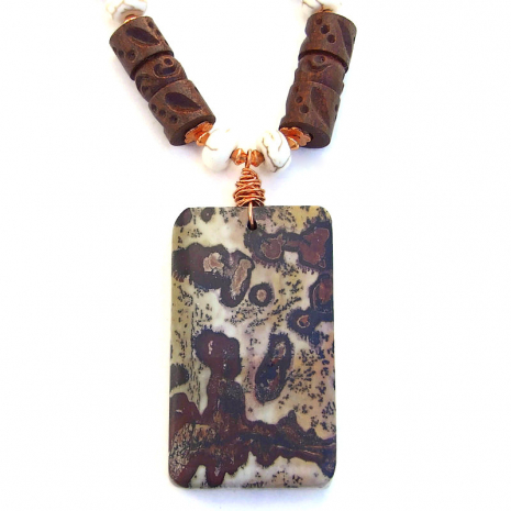 backside of jasper pendant