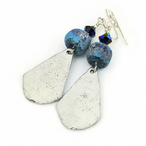 backside of skull dangle earrings