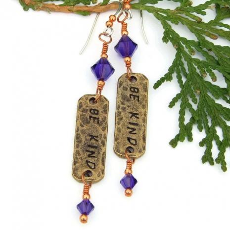 be kind earrings for women