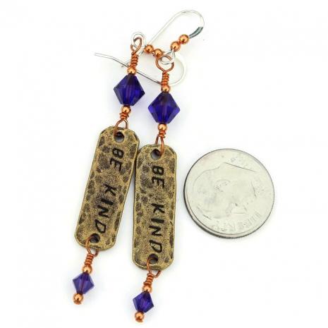 bronze and purple dangle jewelry