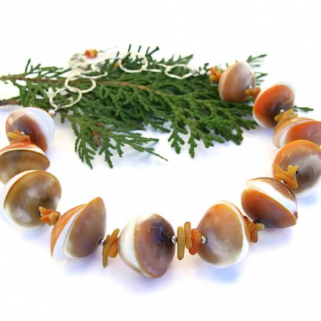 Shiva shell necklace for women.