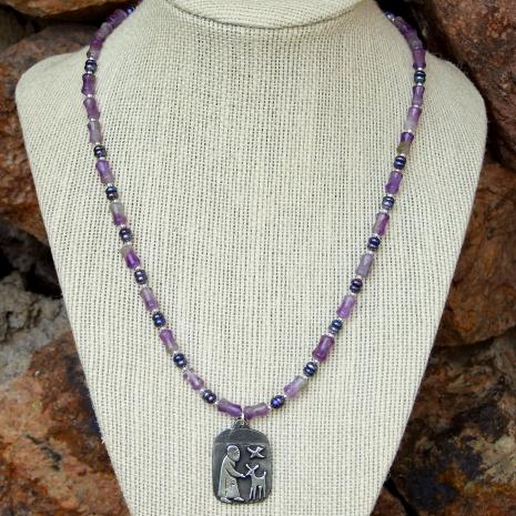vintage st francis pendant necklace