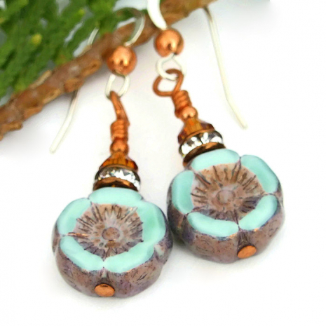 One of a kind fashion flower earrings.