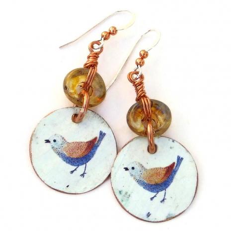 bird lover earrings gift for her