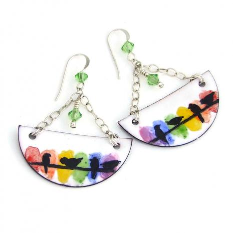 bird lover earrings gift for women