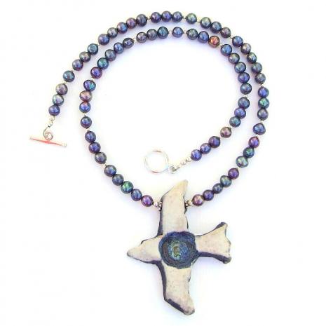 bird lover necklace peacock pearls
