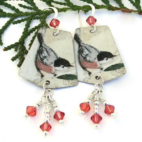 bird earrings gift for a birder