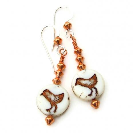 bird sandpipers peeps earrings gift for women