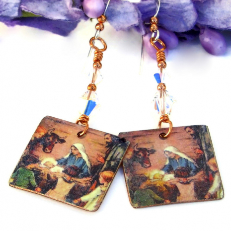 birth of jesus christmas jewelry for her