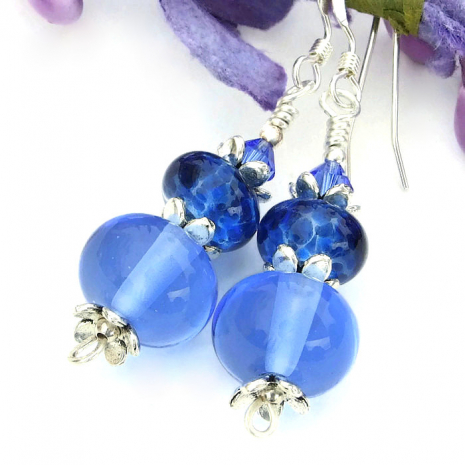 blue earrings for women