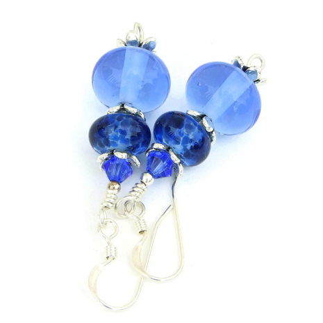 Handmade blue earrings