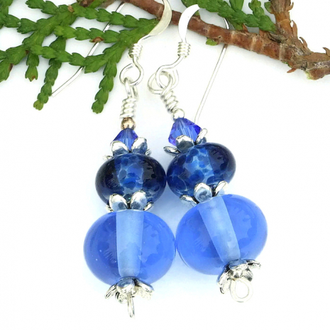 lampwork earrings for women.