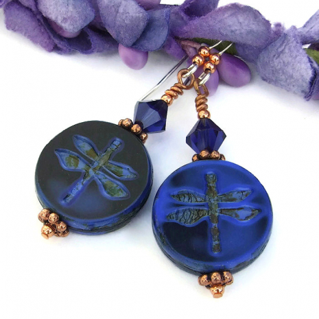 One of a kind artisan dragonfly jewelry.