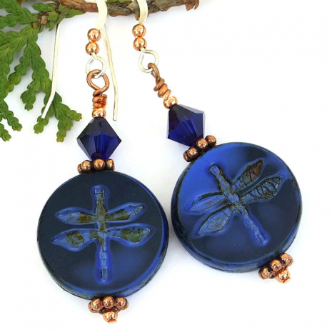 Dragonfly earrings gift idea.