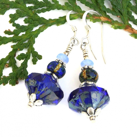 blue earrings for the blues lover