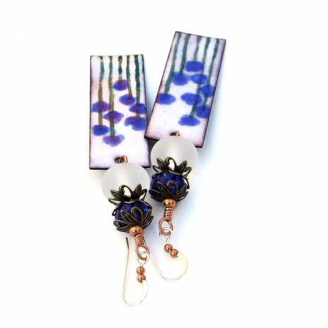 blue flowers jewelry