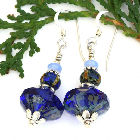 blue jewelry for the blues lover