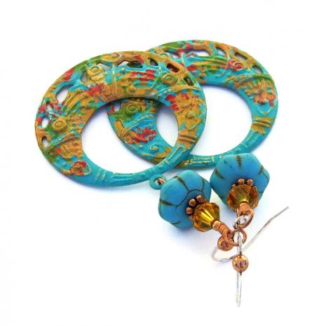 Hippie hoop earrings