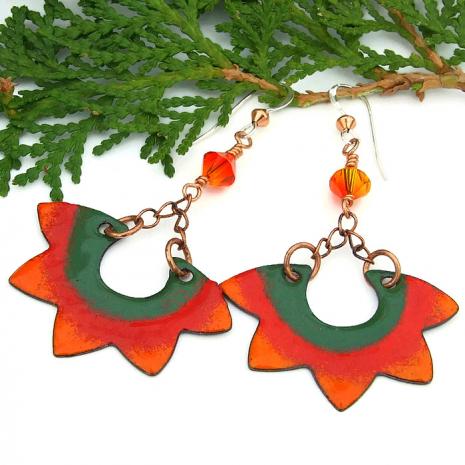 boho sun earrings for women