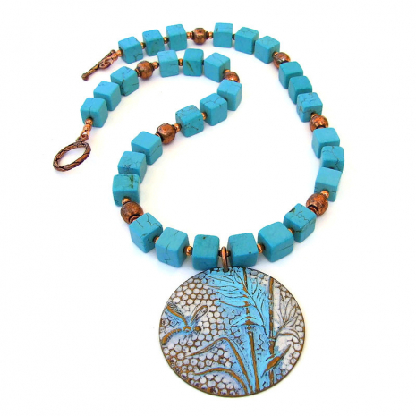 brass dragonfly bamboo pendant necklace gift for women